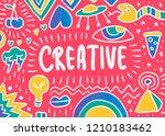 creative doodle illustration | Shutterstock .eps vector #1210183462