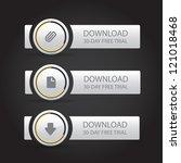 website download buttons | Shutterstock .eps vector #121018468