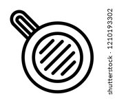 meal fry pan icon. outline meal ... | Shutterstock . vector #1210193302