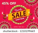 happy diwali sale design.... | Shutterstock .eps vector #1210199665