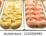 gelato ice cream in sweet food...   Shutterstock . vector #1210206982