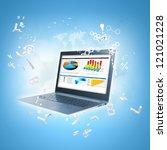 best internet concept of global ... | Shutterstock . vector #121021228