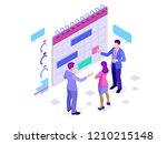 isometric online business... | Shutterstock .eps vector #1210215148