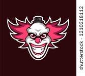 crazy clown mascot logo   Shutterstock .eps vector #1210218112