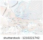 imaginary meteorological vector ... | Shutterstock .eps vector #1210221742