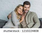 portrait of smiling couple...   Shutterstock . vector #1210224808