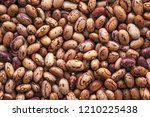 pinto bean from above  top view ... | Shutterstock . vector #1210225438