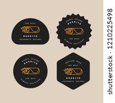 vector set design templates... | Shutterstock .eps vector #1210225498
