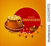 inidan holiday of happy... | Shutterstock .eps vector #1210229572