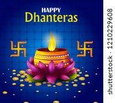 inidan holiday of happy... | Shutterstock .eps vector #1210229608