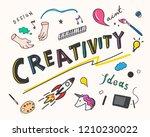 creativity and innovation... | Shutterstock .eps vector #1210230022