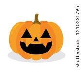 halloween pumpkin. vector... | Shutterstock .eps vector #1210231795