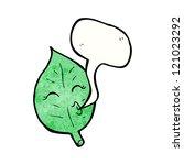 cartoon whistling leaf | Shutterstock .eps vector #121023292