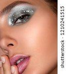 close up portrait of a... | Shutterstock . vector #1210241515