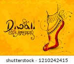diwali festival greeting card... | Shutterstock .eps vector #1210242415