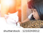 asia child with autism spectrum ... | Shutterstock . vector #1210243012