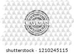 caveman grey emblem. retro with ...   Shutterstock .eps vector #1210245115