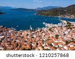 top view of the harbor...   Shutterstock . vector #1210257868