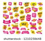 sales banner. super mega...   Shutterstock .eps vector #1210258648