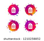 sale price tag icons. discount... | Shutterstock .eps vector #1210258852