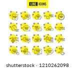 quick tips line icons. set of... | Shutterstock .eps vector #1210262098