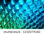 bright blue turquoise hydrogel... | Shutterstock . vector #1210274182