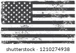 american grunge flag.black and... | Shutterstock .eps vector #1210274938