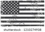 american grunge flag.black and...   Shutterstock .eps vector #1210274938