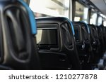 luxury salon of bus with... | Shutterstock . vector #1210277878
