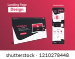 website landing page design web ...