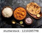 murgh makhani   butter chicken... | Shutterstock . vector #1210285798