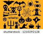 halloween icon set  | Shutterstock . vector #1210292128