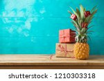 christmas holiday concept with  ... | Shutterstock . vector #1210303318