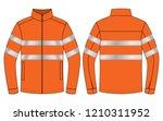 orange jacket design vector  ... | Shutterstock .eps vector #1210311952