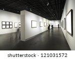 frames on white wall in art... | Shutterstock . vector #121031572