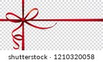 header with red ribbon cross ... | Shutterstock .eps vector #1210320058