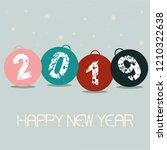 illustration of new year balls.  | Shutterstock . vector #1210322638