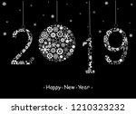 happy new year 2019 greeting... | Shutterstock . vector #1210323232