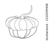 pumpkin autumn illustration on... | Shutterstock . vector #1210339408
