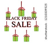 black friday sale illustration... | Shutterstock . vector #1210339525