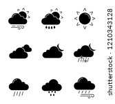 weather forecast glyph icons... | Shutterstock .eps vector #1210343128