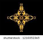gold baroque frame scroll    Shutterstock .eps vector #1210352365