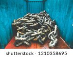 enormous marine shipping chains ... | Shutterstock . vector #1210358695