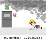 visual drawing of cartoon human ... | Shutterstock .eps vector #1210363858