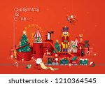 toy store christmas greetings... | Shutterstock .eps vector #1210364545