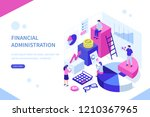 financial administration... | Shutterstock .eps vector #1210367965