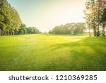 scenery green golf and meadow... | Shutterstock . vector #1210369285