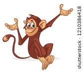 funny monkey vector... | Shutterstock .eps vector #1210386418