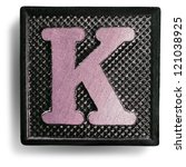 photograph of game tile letter k | Shutterstock . vector #121038925