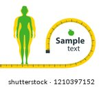 weight loss. the influence of... | Shutterstock .eps vector #1210397152